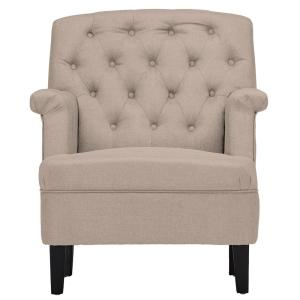 Jester Contemporary Beige Fabric Upholstered Accent Chair