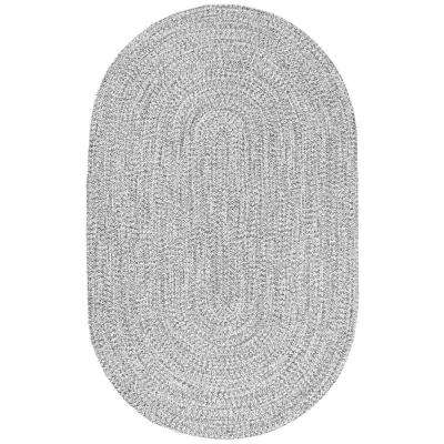 Lefebvre Salt and Pepper 7 ft. 6 in. x 9 ft. 6 in. Oval Area Rug