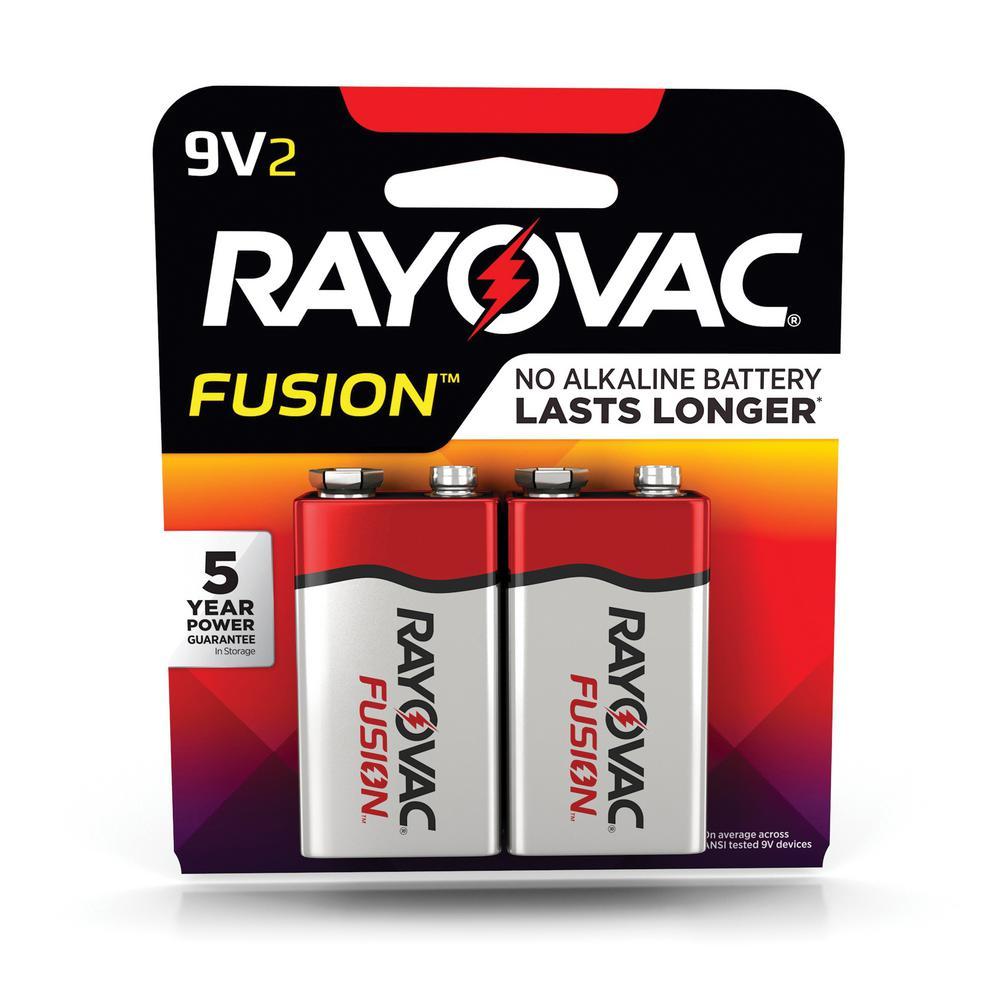 FUSION 9-Volt Premium Alkaline Battery (2-Pack)