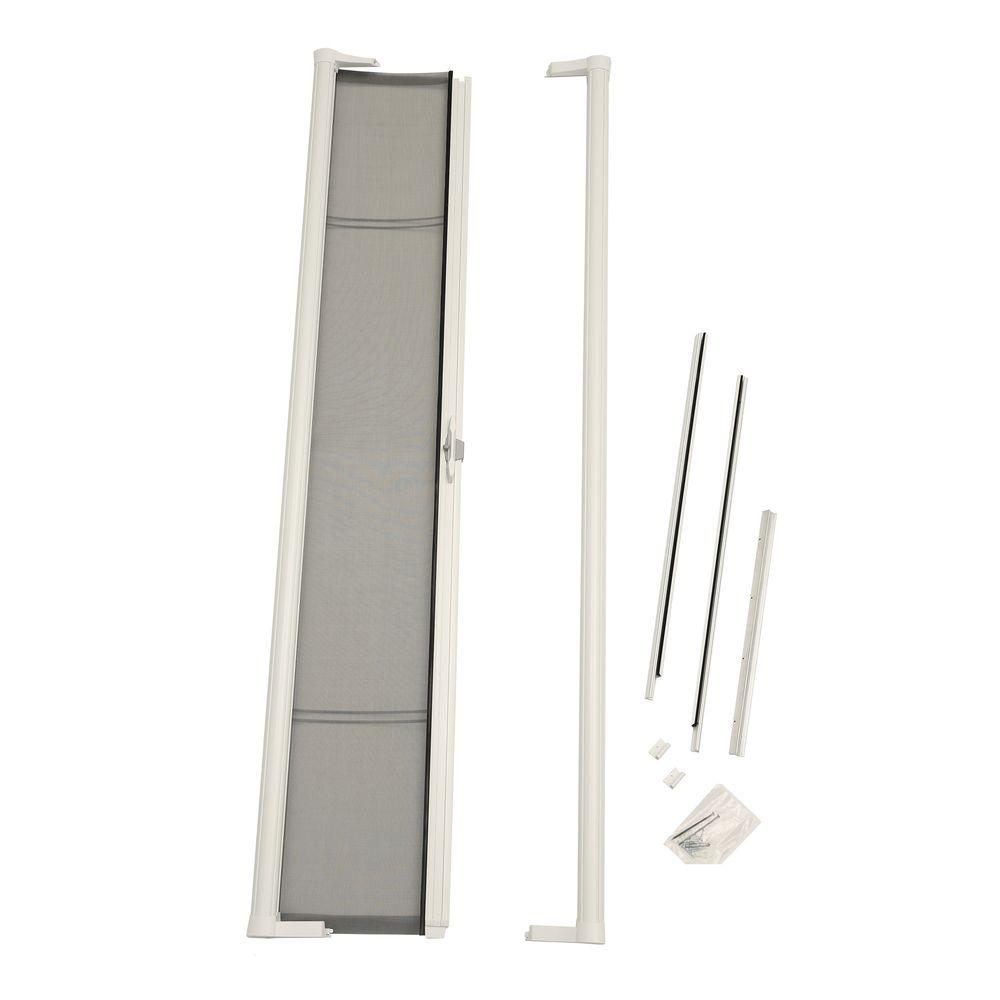 Odl 36 in x 78 in brisa white retractable screen door for Screen doors for sliding doors home depot