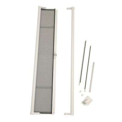 36 in. x 78 in. Brisa White Retractable Screen Door for Sliding Door