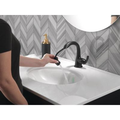 Broadmoor Single Hole Single-Handle Bathroom Faucet with Pull-Down Sprayer in Matte Black
