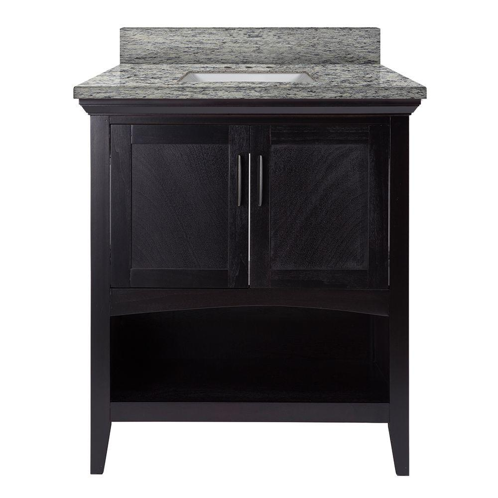 Home Decorators Collection Brattleby 31 In W X 22 In D Vanity In Espresso With Granite Vanity