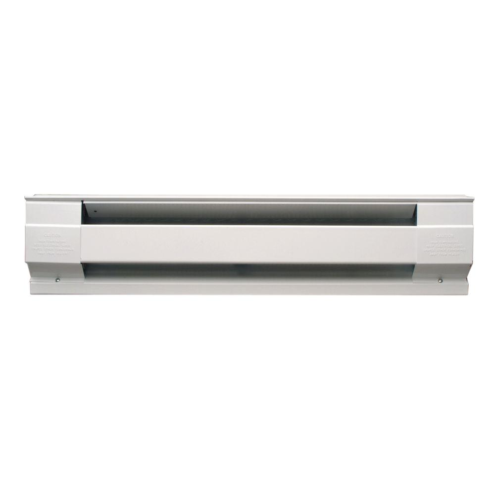 30 in. 500-Watt 240-Volt Electric Baseboard Heater in White