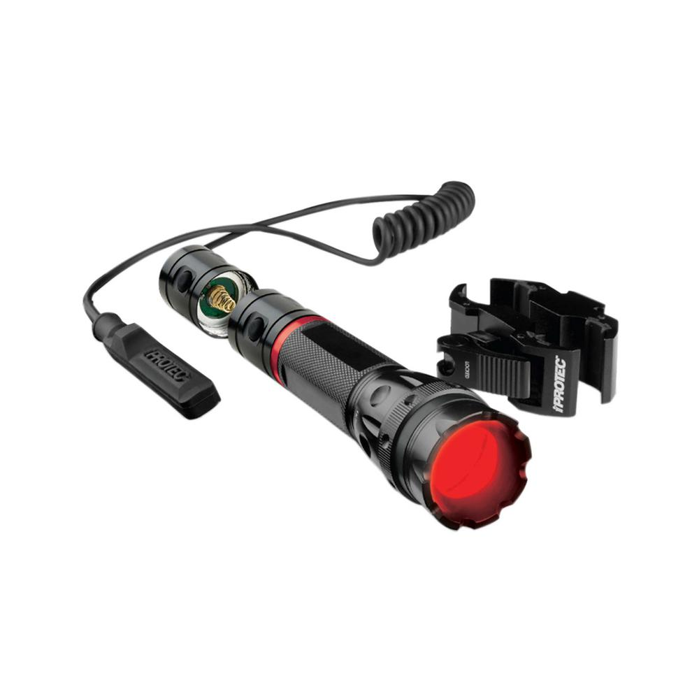 iProtec 150-Lumen Flashlight with Universal Long Gun Mount Accommodates Barrel and Scope Diameters 20 mm to 32.5 mm