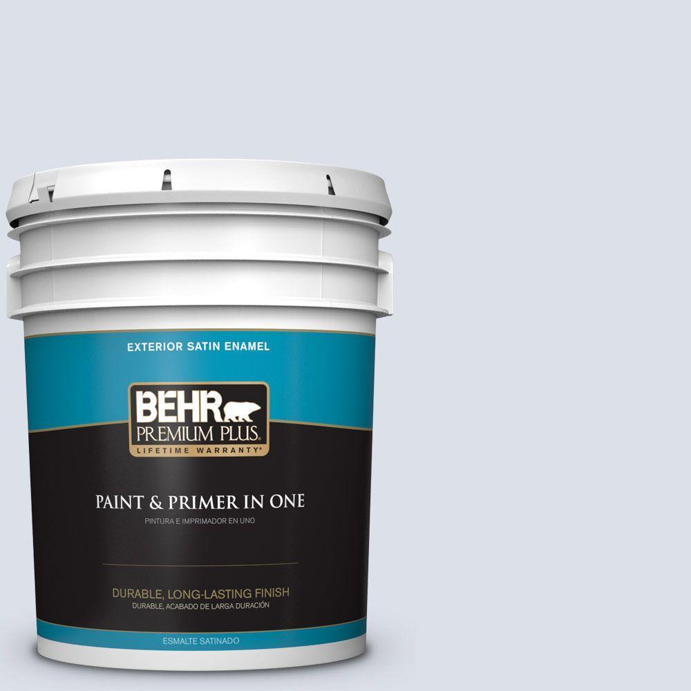 BEHR Premium Plus 5-gal. #PPL-70 Eastern Breeze Satin Enamel Exterior Paint