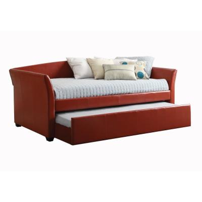 Delmar Red Twin Daybed with Trundle