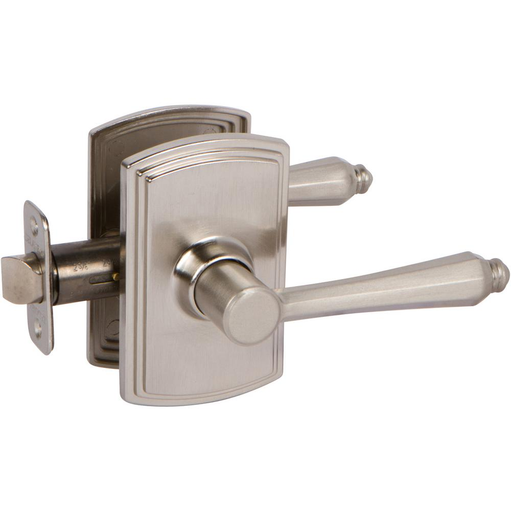 Italian Collection Florini Satin Nickel Hall and Closet Lever