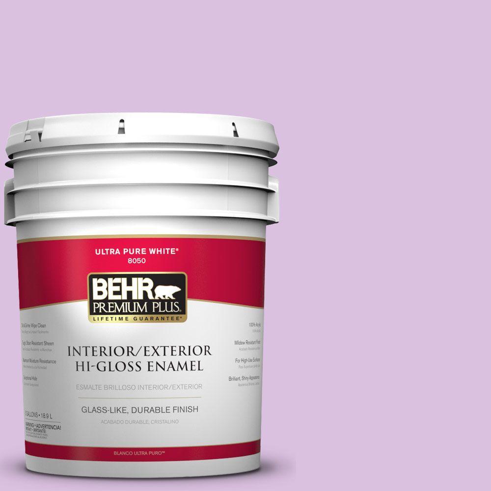BEHR Premium Plus 5-gal. #P100-3 Epiphany Hi-Gloss Enamel Interior/Exterior Paint
