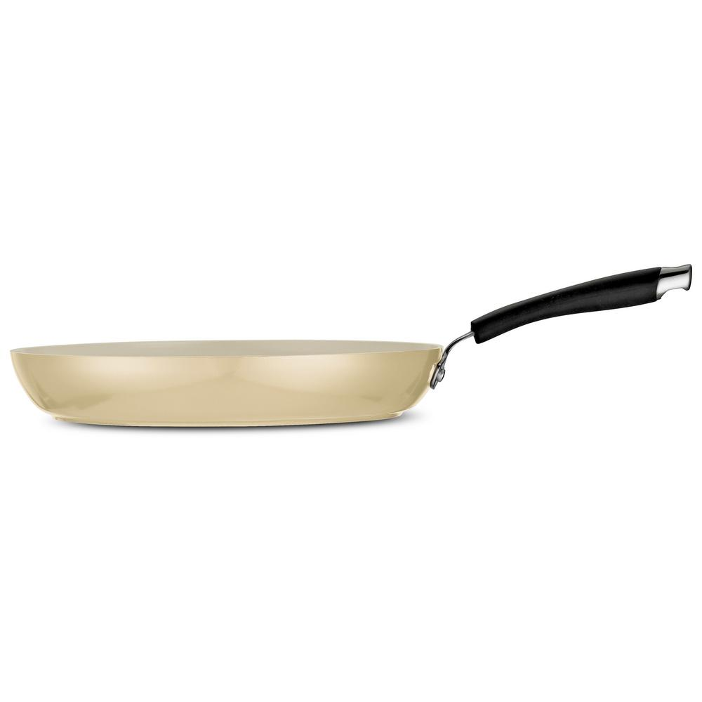 Style Ceramica 12 in. Fry Pan in Metallic Sand