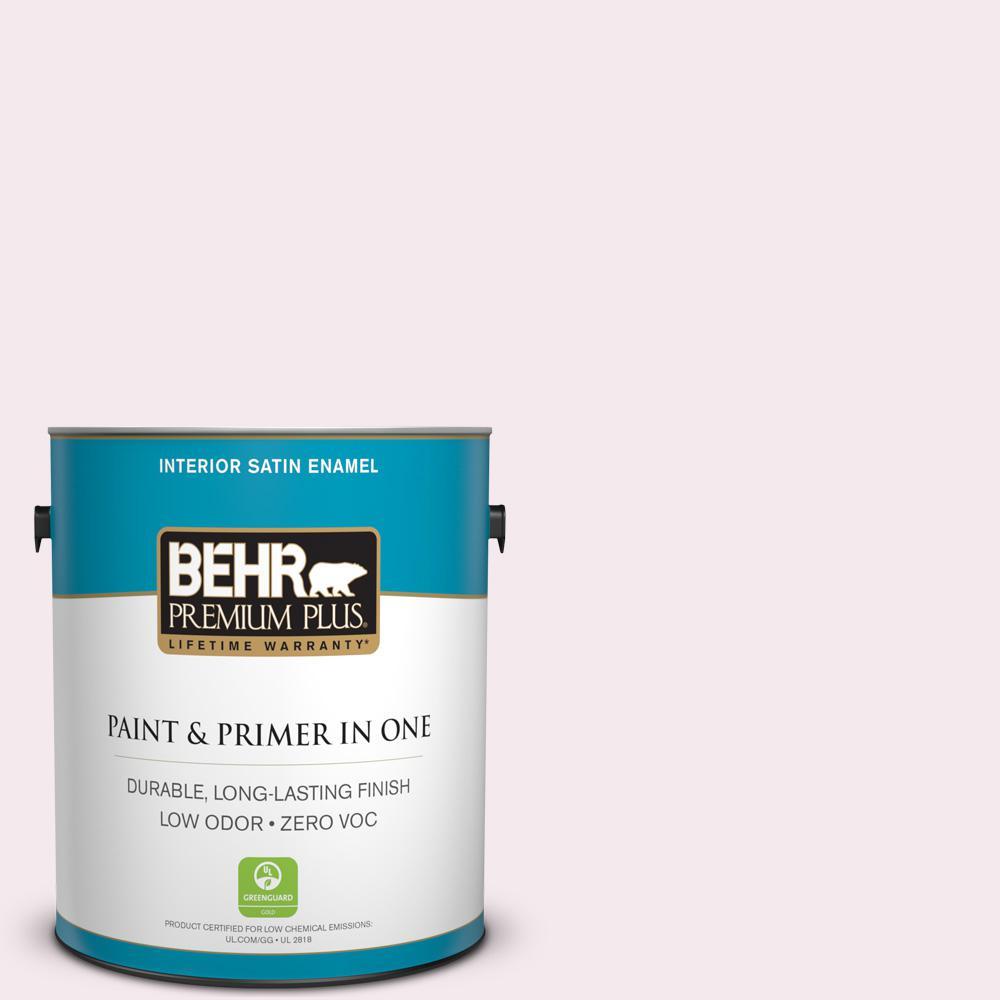 BEHR Premium Plus 1-gal. #PR-W5 Sweet Roses Satin Enamel Interior Paint