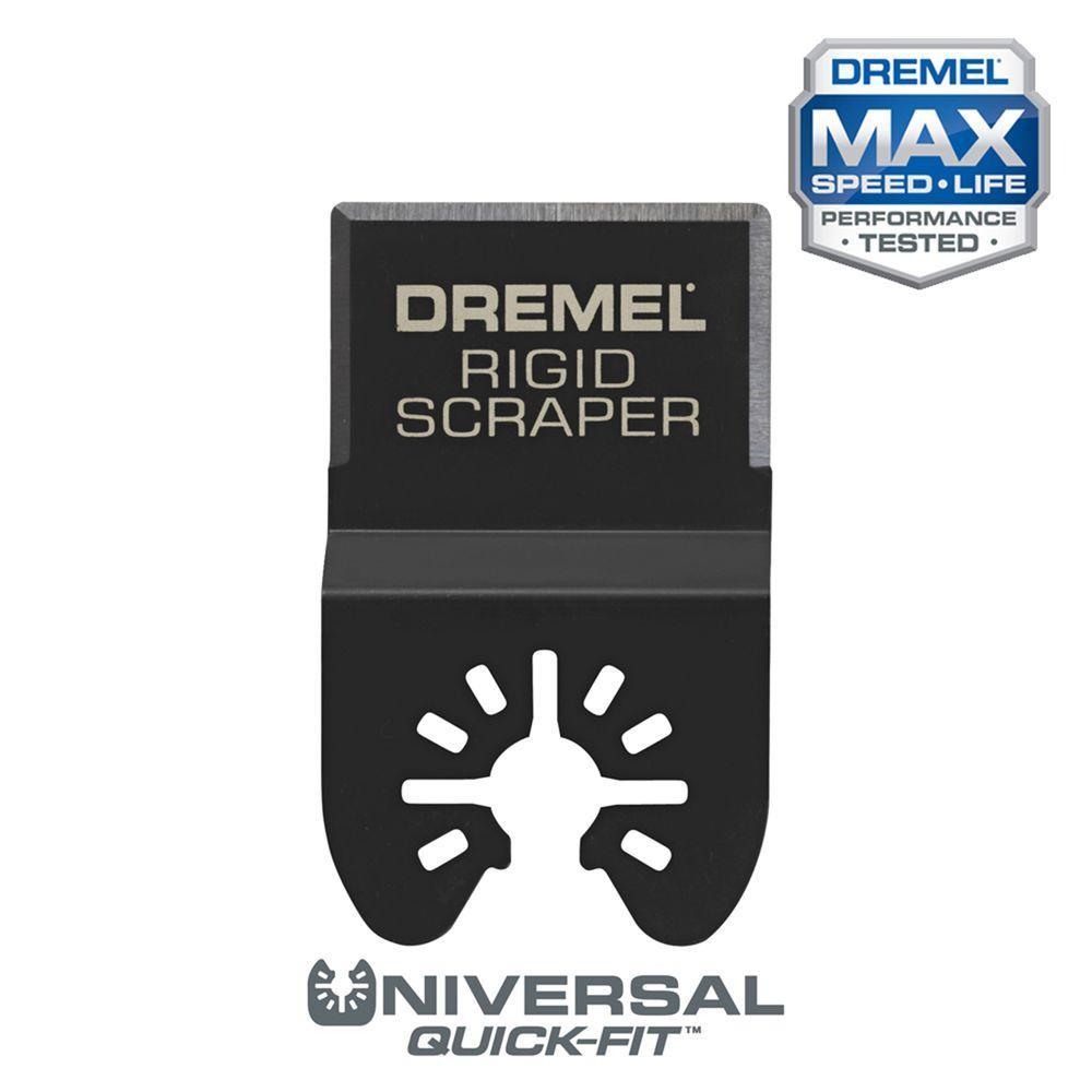 Multi-Max 5/8 in. Rigid Scraper Oscillating Tool Blade For Removing Vinyl Flooring, and Bonded Carpeting