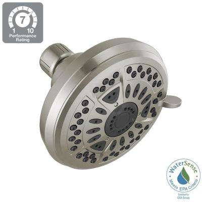 6-Spray 4.38 in. Fixed Shower Head in Brushed Nickel