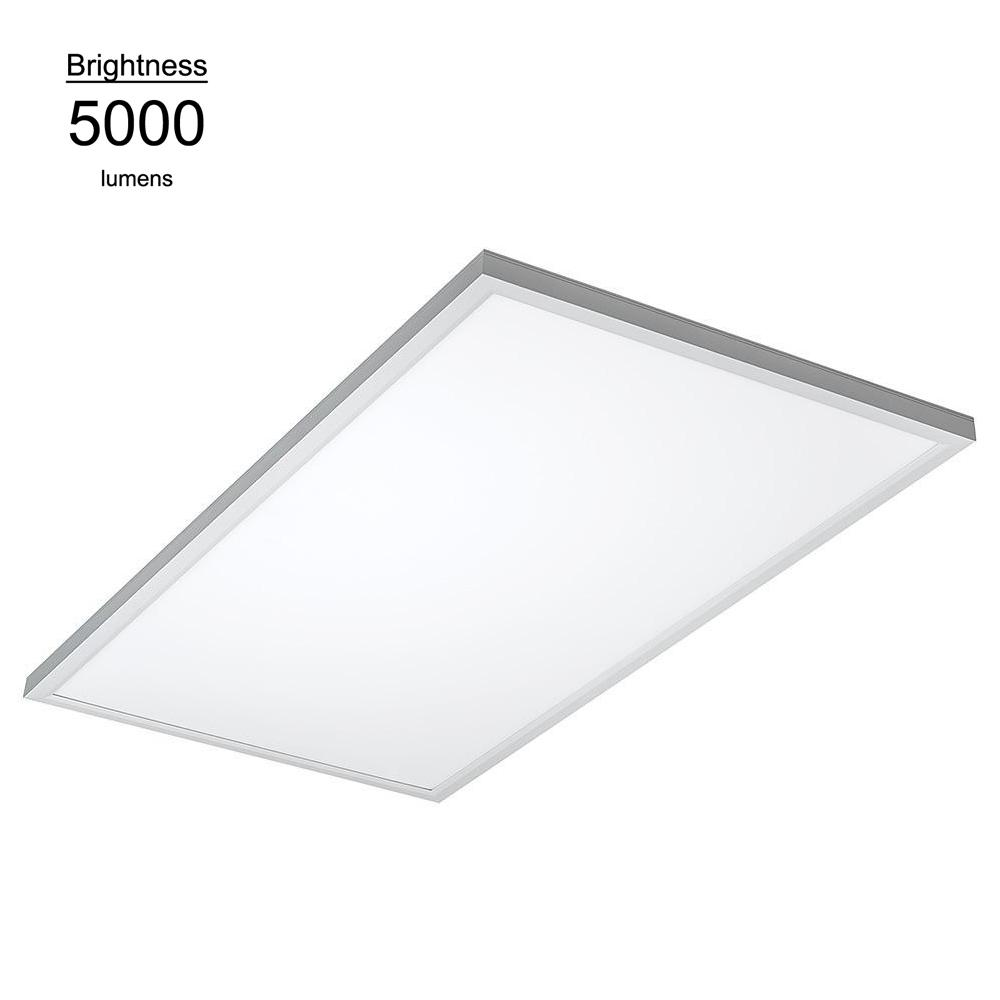 2 ft. x 4 ft. White Commercial Integrated LED 5000K Dimmable