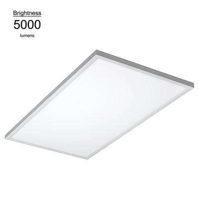 2 ft. x 4 ft. White Commercial Integrated LED 5000K Dimmable Drop Ceiling Flat Panel Troffer Light (2 Pack)