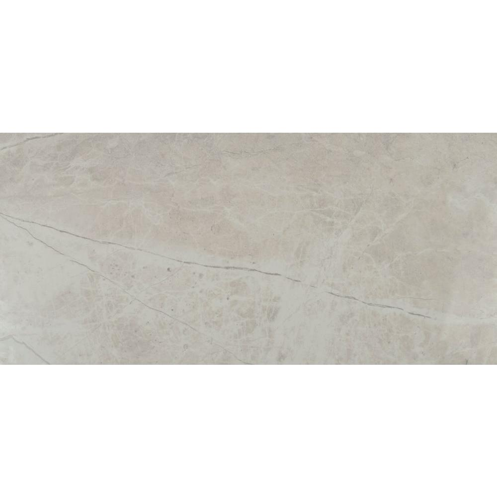 Msi Marmol Gris 12 In X 24 In Polished Porcelain Floor