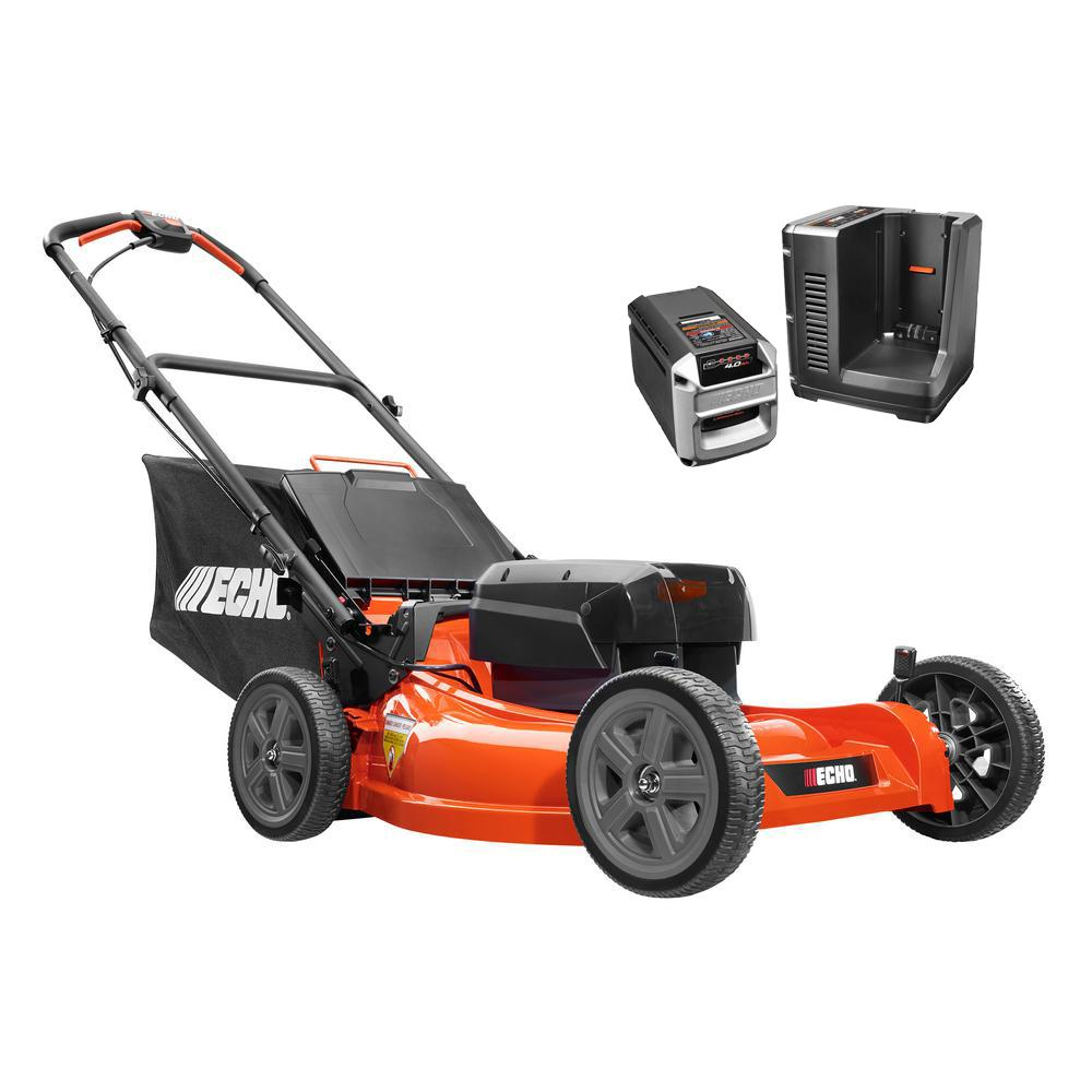 21 in. 58-Volt Brushless Lithium-Ion Cordless Battery Walk Behind Push Lawn