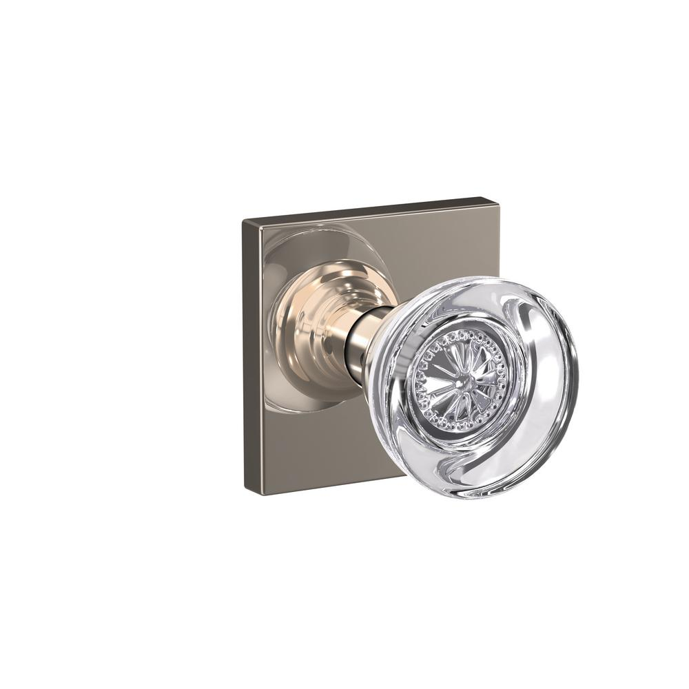 Schlage Custom Hobson Polished Nickel Collins Trim