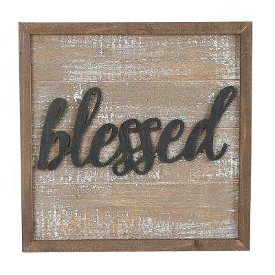 Wood Inspirational Plaques Home Accent (Set of 3)