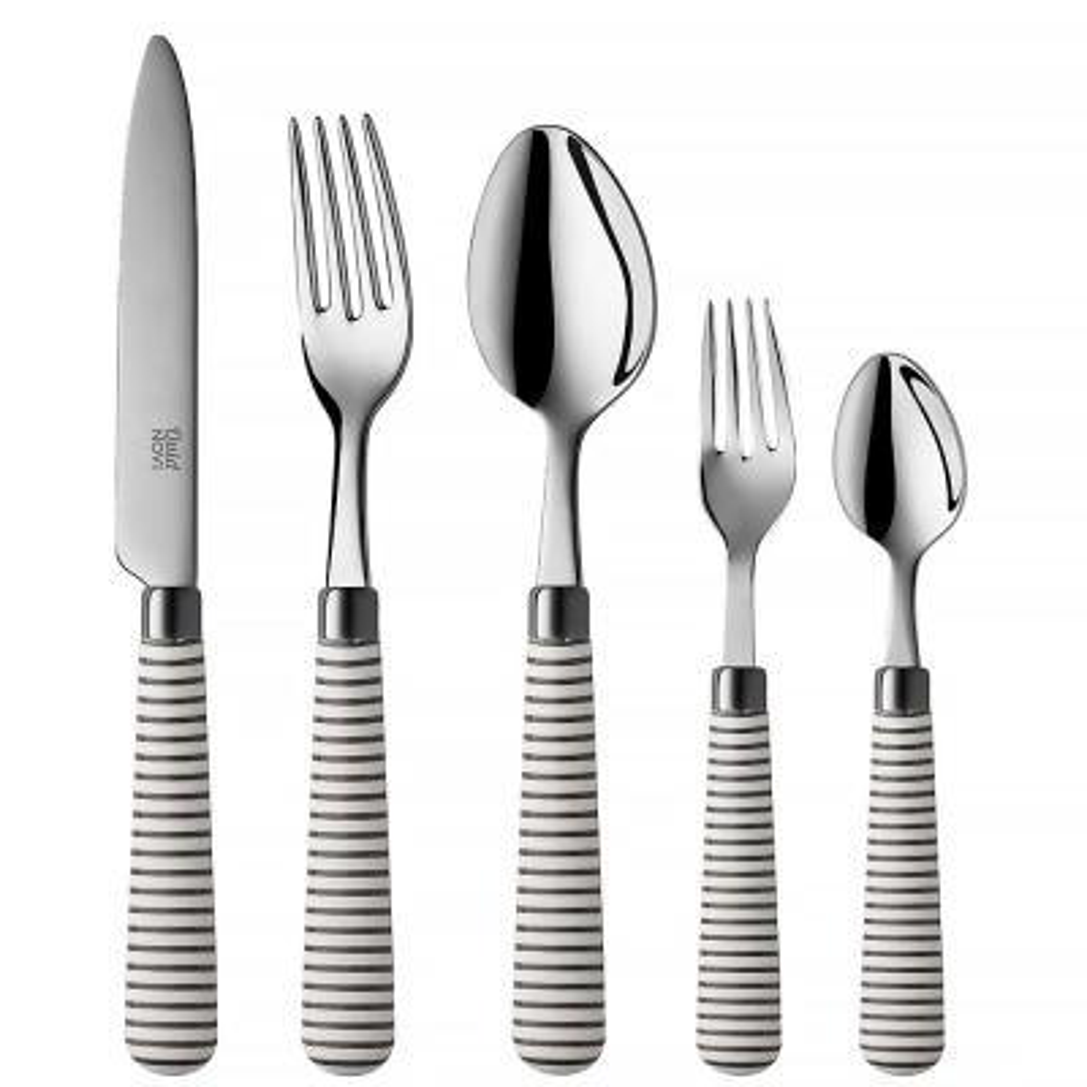 Marina 10-Piece Grey 18/0 Stainless Steel Flatware Set