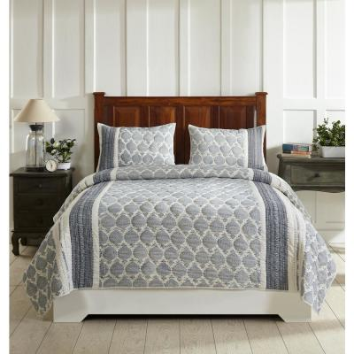 Essential 104 in. X 92 in.  B.Blue KING Comforter with 20 in. X 36 in. 2-King Sham