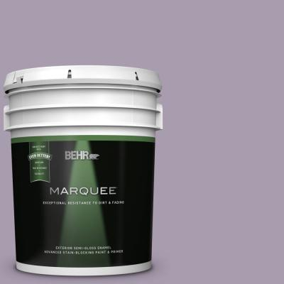 Behr Marquee 5 Gal T12 16 Queens Tart Semi Gloss Enamel Exterior Paint And Primer In One 545005 The Home Depot