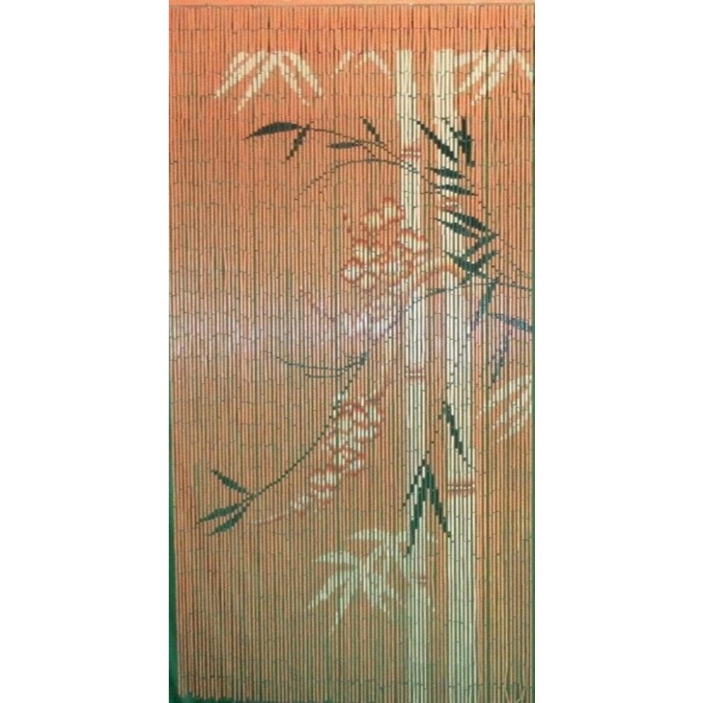 MGP Printed Beaded Bamboo Shoot Curtain