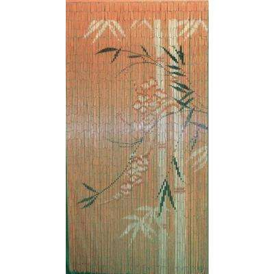 Printed Beaded Bamboo Shoot Curtain