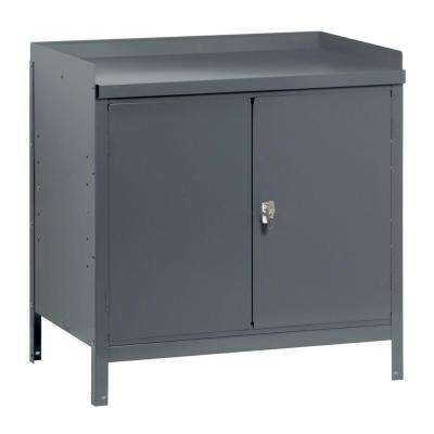 34 in. H x 36 in. W x 24 in. D Steel Freestanding Base Storage Cabinet in Gray