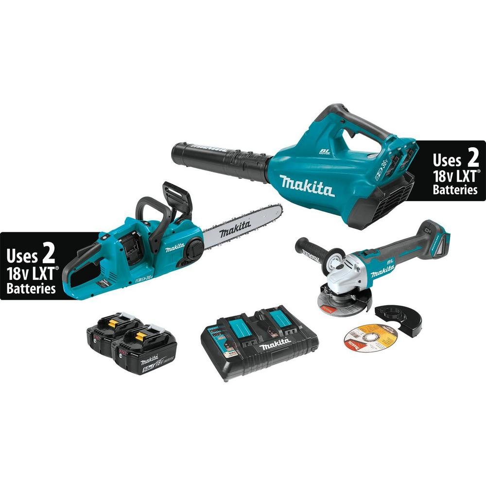 18-Volt 5.0 Ah X2 LXT Lithium-Ion Brushless Cordless Kit (2-Piece) and