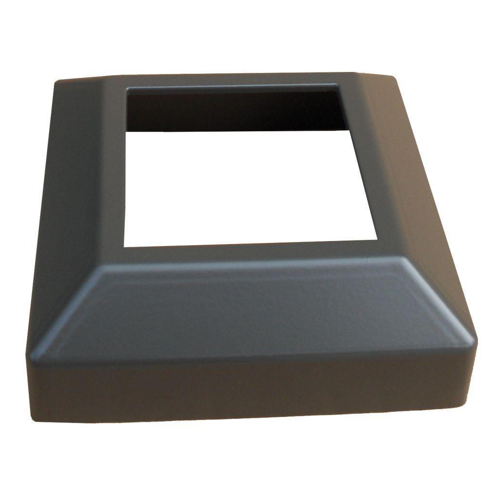 EZ Handrail 3 in. x 3 in. Bronze Aluminum EZ Post Low Profile Base Cover