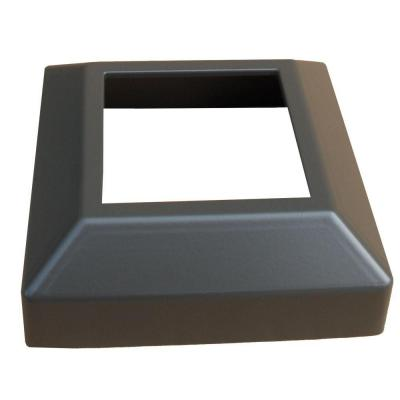 3 in. x 3 in. Bronze Aluminum EZ Post Low Profile Base Cover