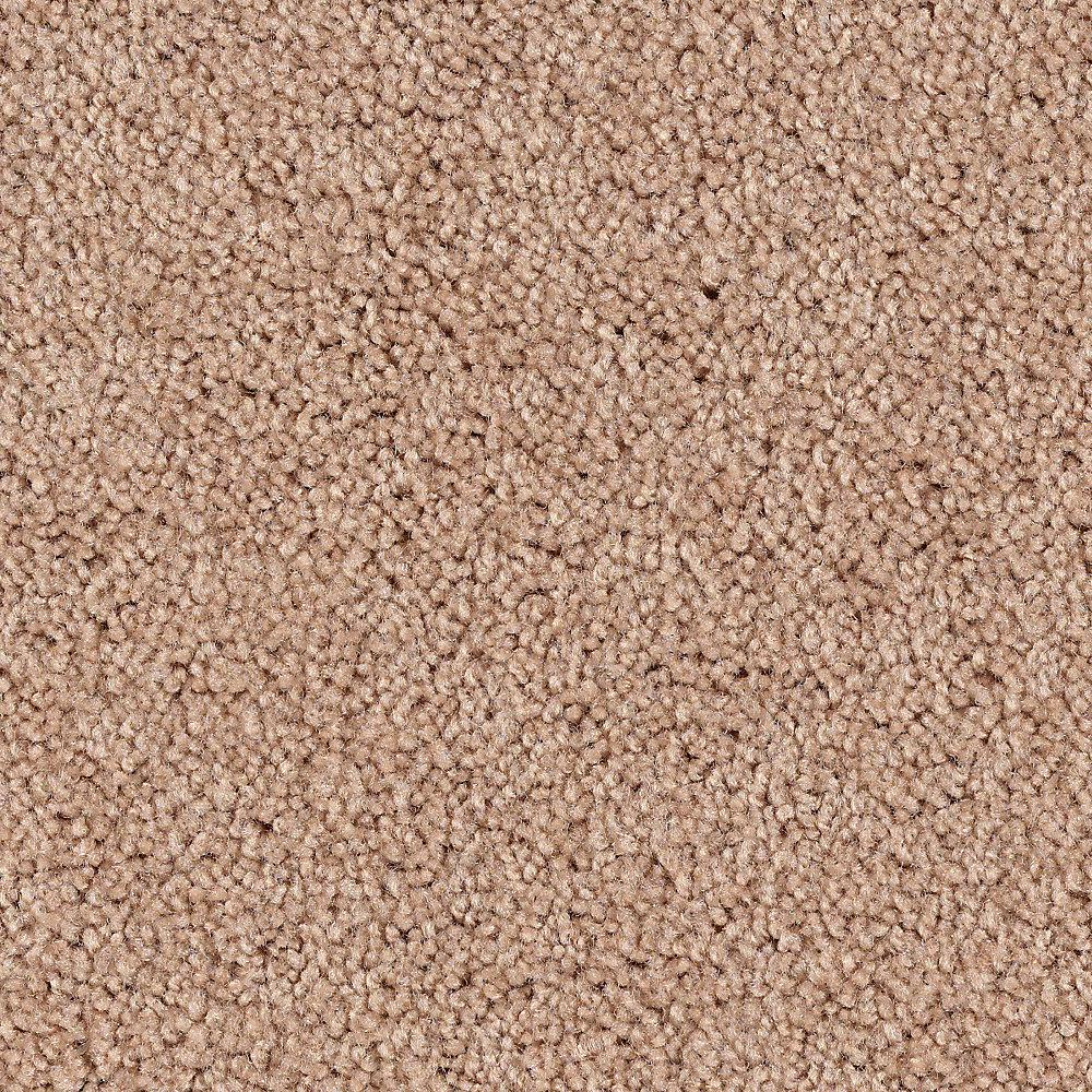 Home Decorators Collection Hypersonic Color Sand Brown Textured 12 Ft Carpet