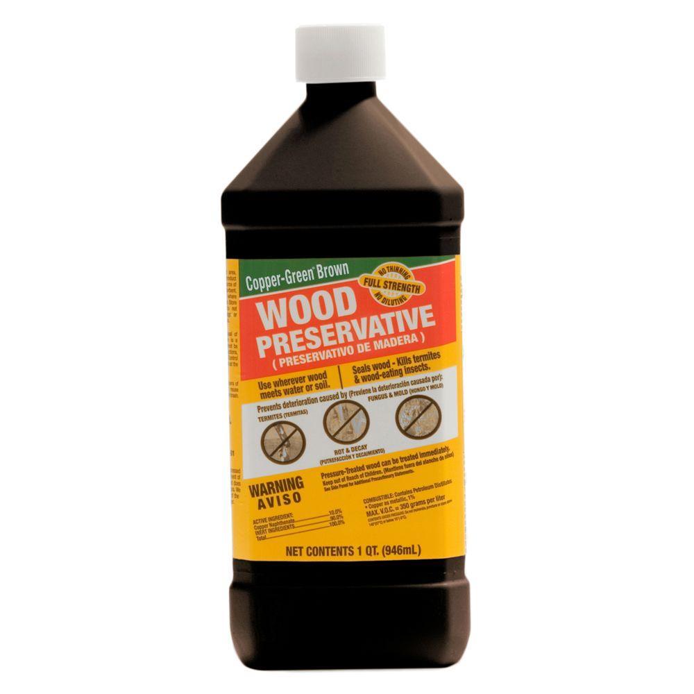 null 1 qt. Copper-Green Brown Wood Preservative