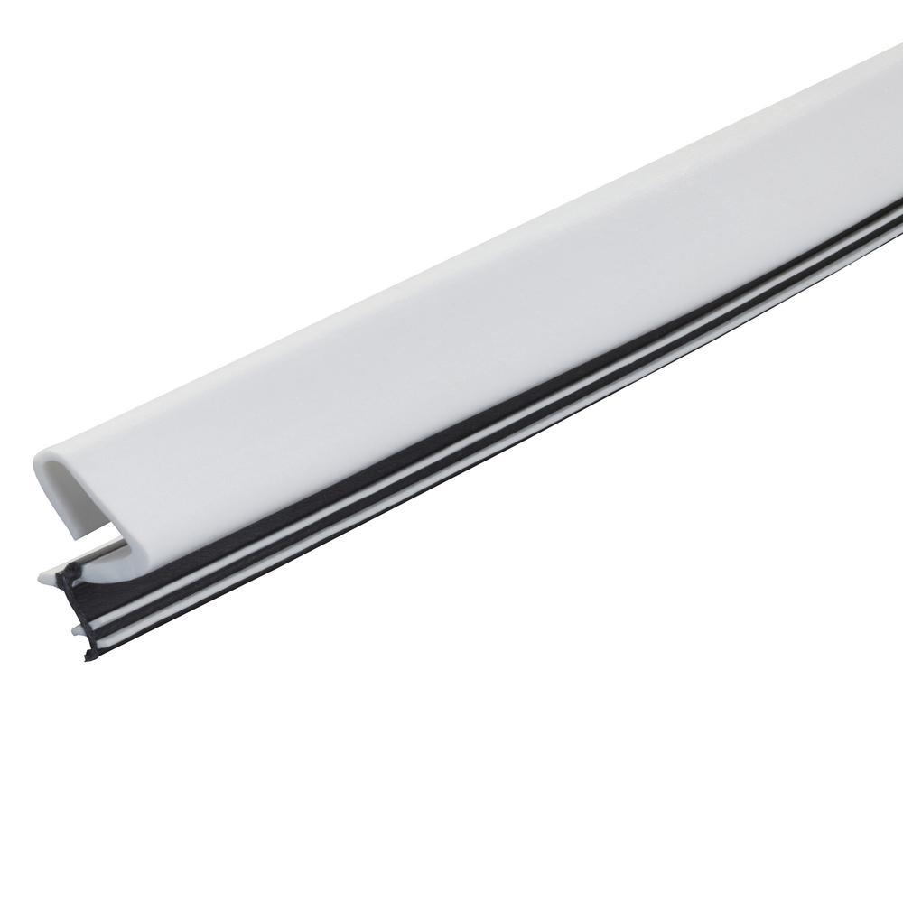 Platinum 1 in. x 81 in. White Door Weatherstrip Replacement