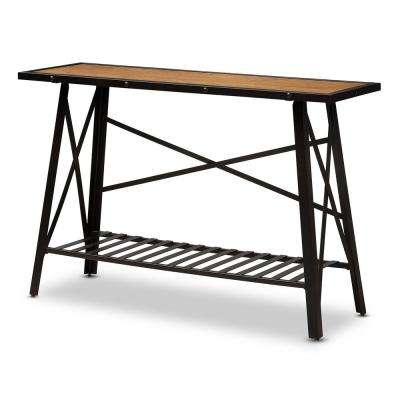 Allaire Brown Console Table