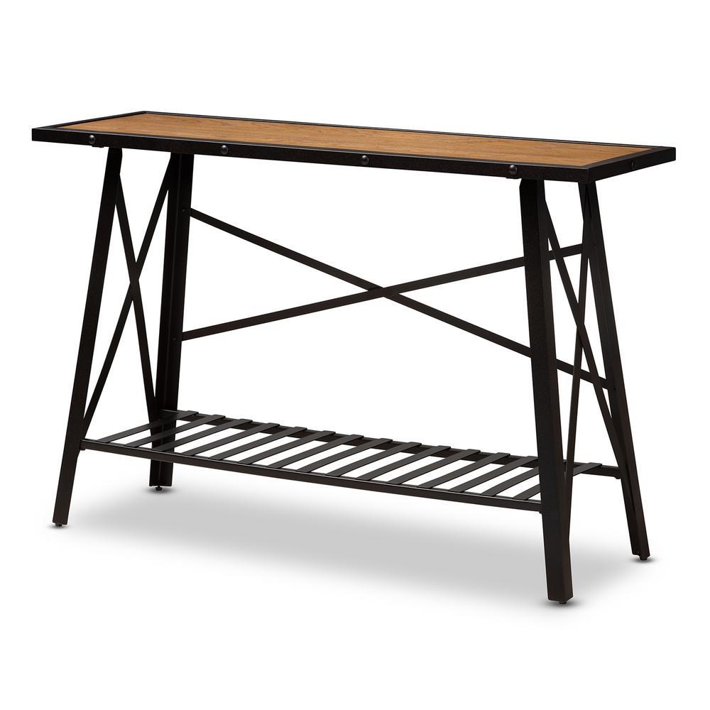 Baxton Studio Allaire Brown Console Table 150-8085-HD