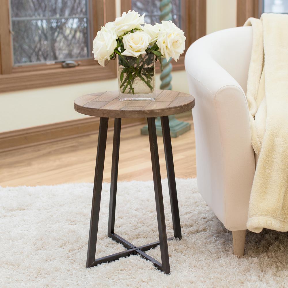 22 in. Miles Rustic Wood Table