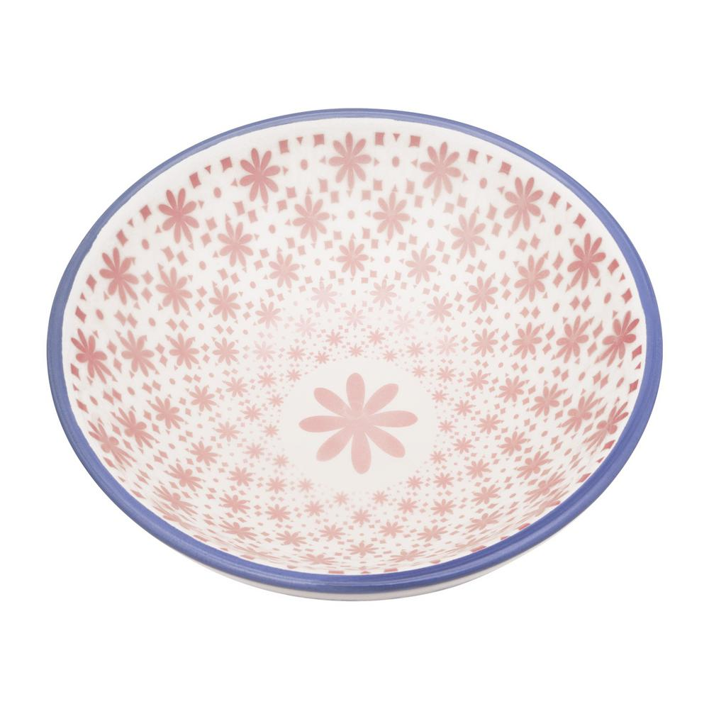 Manhattan Comfort Full Bowl 20.29 oz. Blue and Pink Earthenware Soup Bowls (Set of 6) was $89.99 now $56.63 (37.0% off)