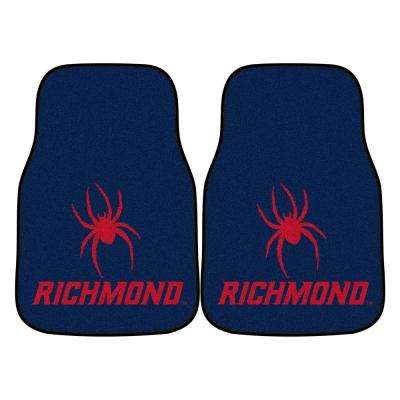 NCAA University of Richmond 17 in. x 27 in. 2-Piece Set of Carpet Car Mats