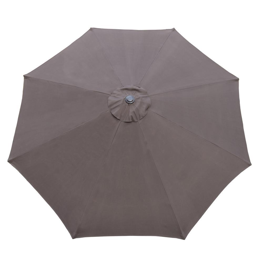 9 ft. Tilt Patio Umbrella in Brown and Patio Umbrella Base