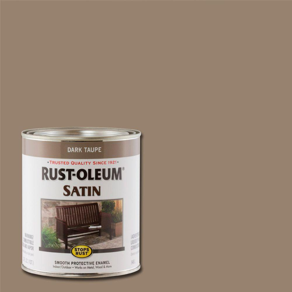 Rust-Oleum Stops Rust 1 qt. Dark Taupe Satin Protective Enamel Paint (Case of 2)