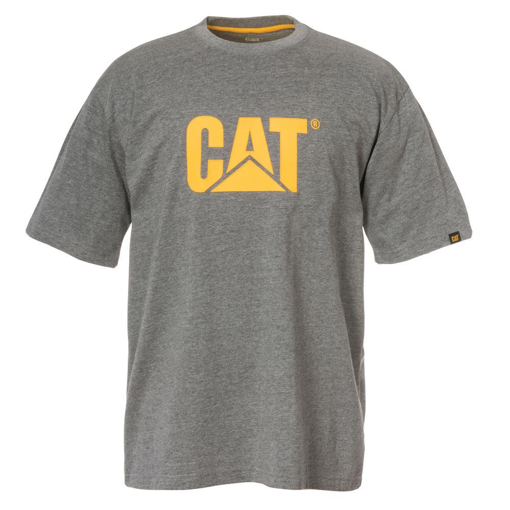 fb1824bd3a73 Caterpillar TM Logo Men's Medium Dark Heather Grey Cotton Short Sleeved T- Shirt