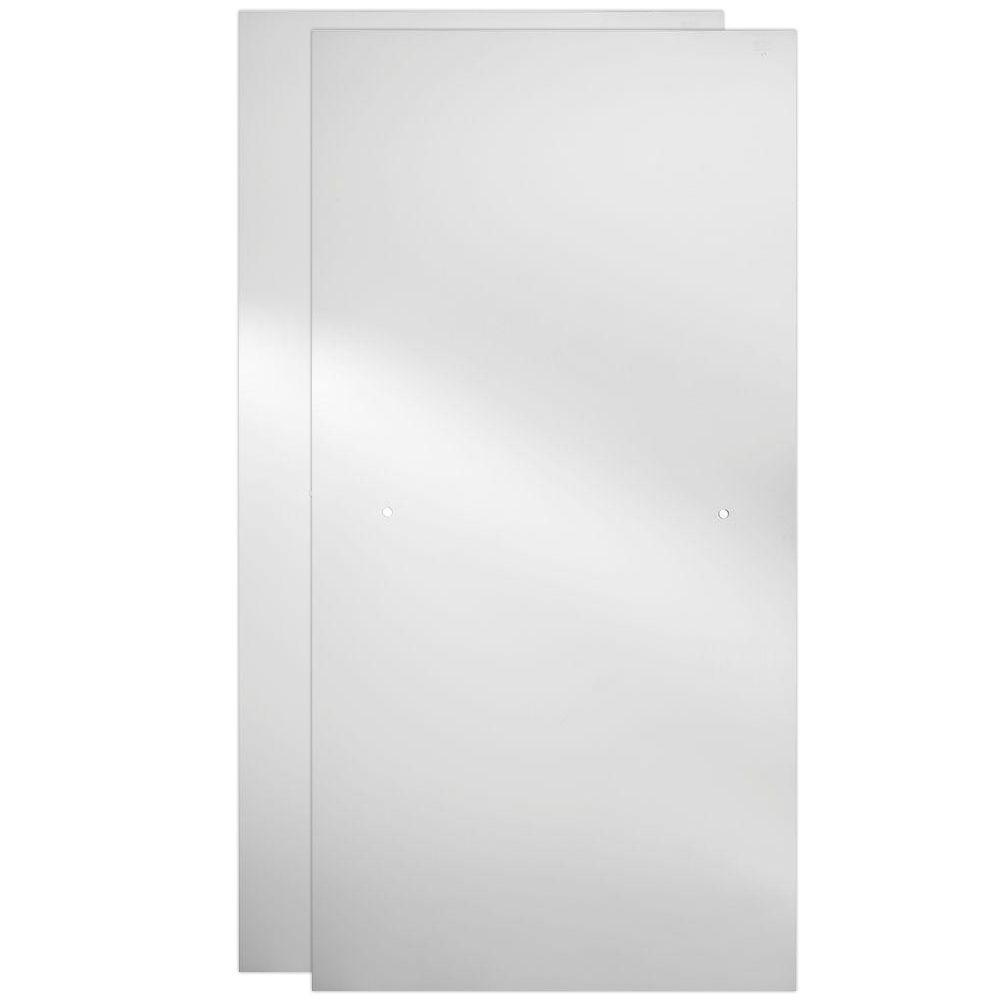 delta 60 in sliding shower door glass panels in clear 1 pair