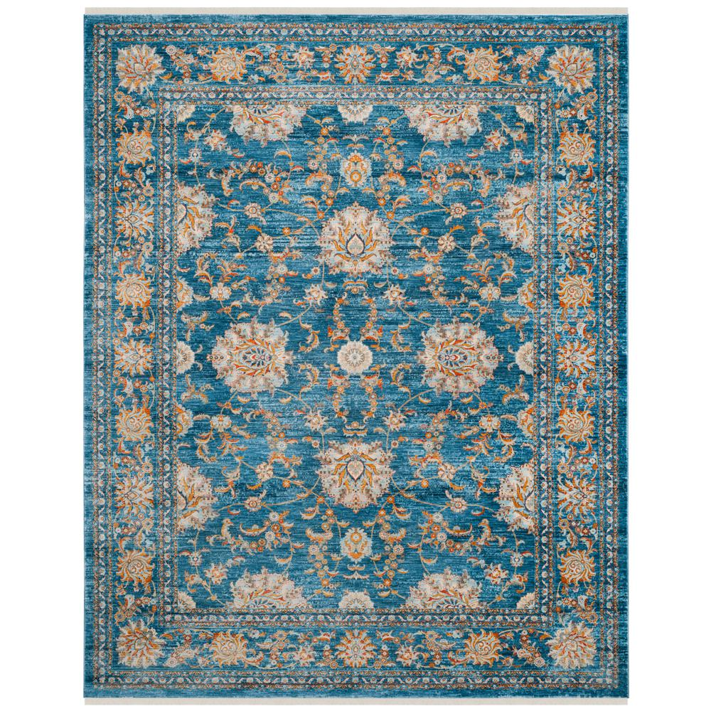 Safavieh Vintage Turquoise And Multi Colored Area Rug: Safavieh Vintage Persian Turquoise/Multi 9 Ft. X 11 Ft. 7