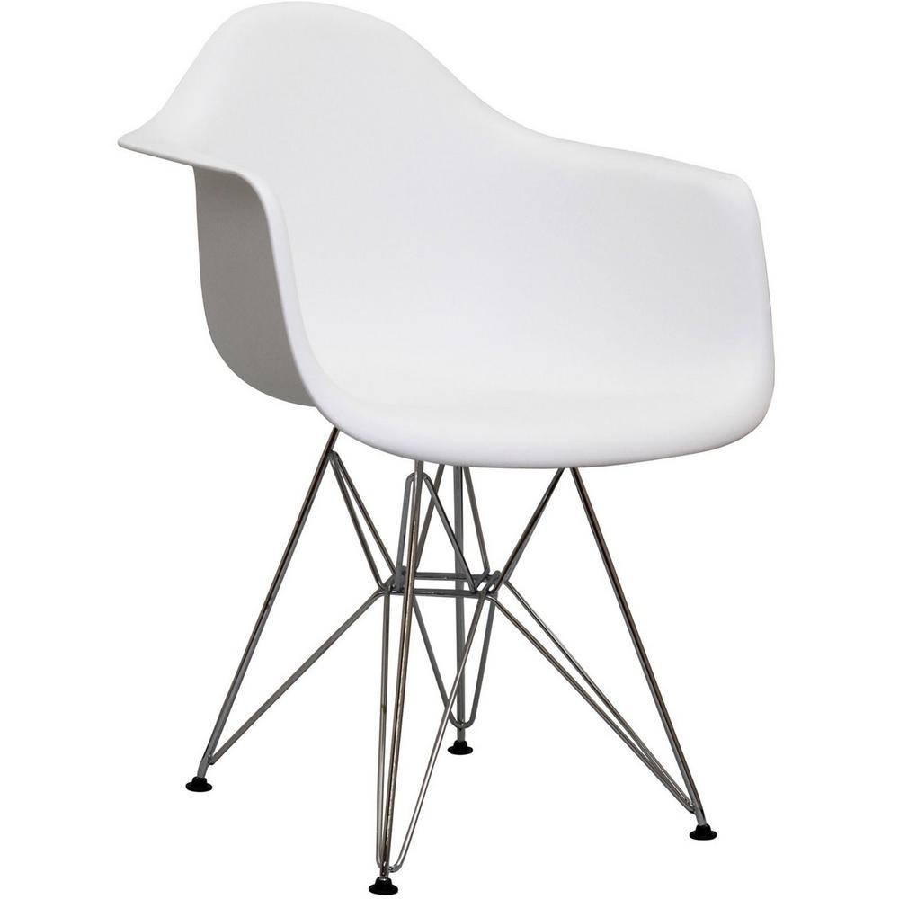 Paris White Dining Arm Chair