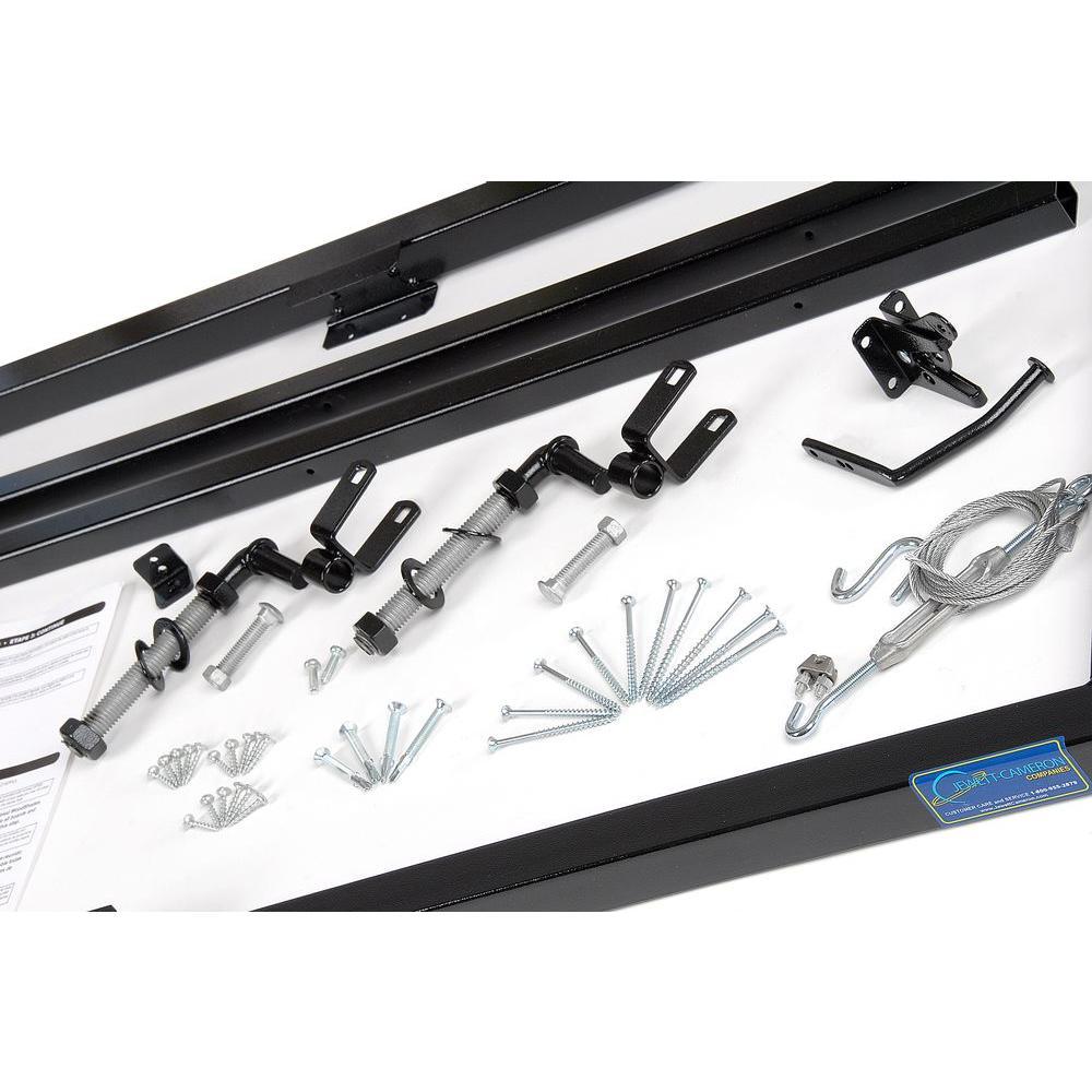 Veranda Veranda 5 ft. W x 5-3/4 ft. H Adjustable Steel Fence Gate Frame Kit, Black