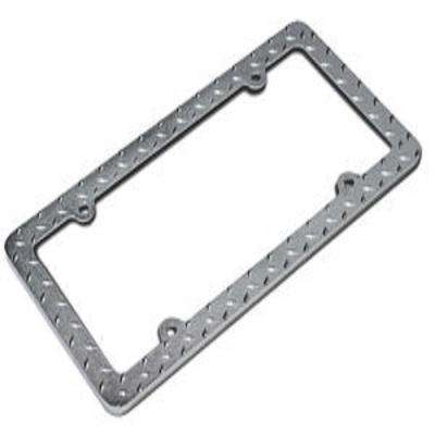 Diamond Metal License Plate Frame