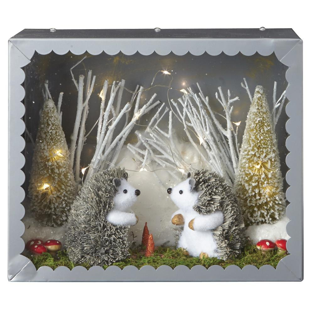 Martha Stewart Living 11 In Lighted Hedgehog Diorama