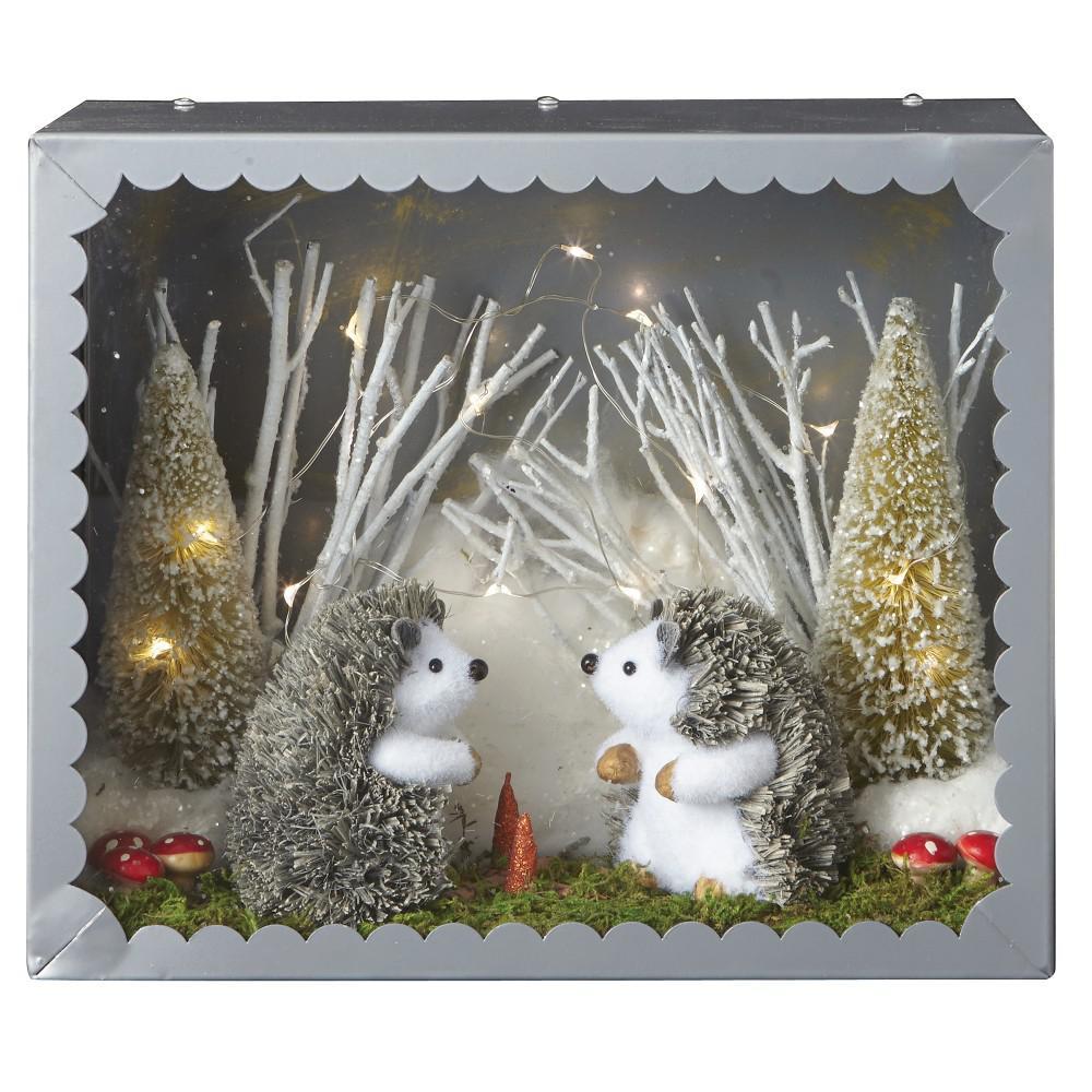 Martha Stewart Living 11 In Lighted Hedgehog Diorama